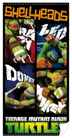 Toalla Shellheads. Las Tortugas Ninja. 140 x 70 cm