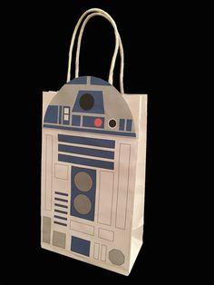 Star Wars R2D2 Party Favor Bag Printable, Star Wars Birthday Party Goodie Bag, Star Wars Party Supplies, Star Wars Party Favor