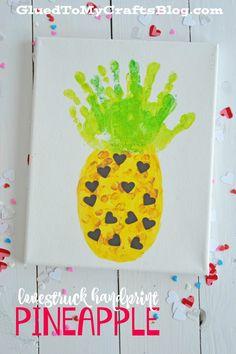 Lovestruck Handprint Pineapple Keepsake