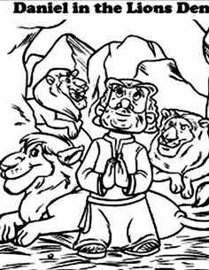 daniel-and-the-lions-den-coloring-pages   Children\'s activities ...