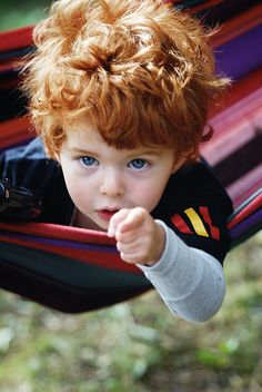 If I can't have red hair, the next best thing would be to have a child with red hair.