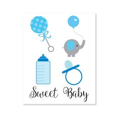 Printable boy baby shower clipart - Transparent PNG baby shower clipart for your digital projects. Make baby shower banners, invitations, signs, labels, stickers, and favor tags!