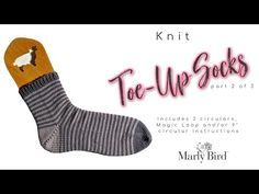 My First Toe Up Knit Socks with Marly Bird part 2 of 3 || German Short Row Heel and NO HOLES - YouTube