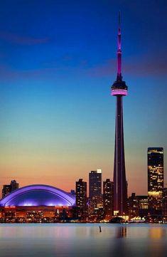 Toronto - Canada, America do Norte Torre Cn, Toronto Skyline, Downtown Toronto, Fotos Do Canada, Quebec, Places Around The World, Around The Worlds, Places To Travel, Places To Go