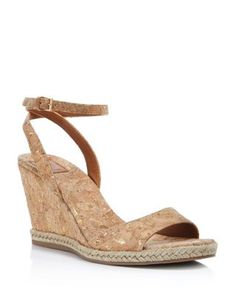 3f4a34f33 Tory Burch Marion Quilted Metallic Wedge Sandals