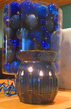 Show off that lovely blue. Scentsy Menorah Warmer. There is a warmer for everyone!! Http://MandyWilmeth.scentsy.us
