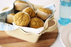 Pumpkin Carrot Cake Muffins with Orange Cream Cheese Spread.  Healthy way to start the day.