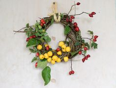 autumn wreath with r