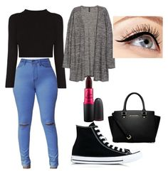 """back to school"" by giulia-serafini on Polyvore featuring moda, Converse, MICHAEL Michael Kors, MAC Cosmetics e Luminess Air"