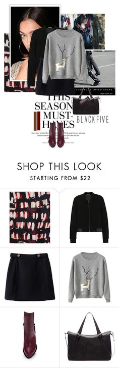 """""""Blackfive #2"""" by juhh ❤ liked on Polyvore featuring J.A.K., Marni, H&M, Zimmermann, T By Alexander Wang, Hershey's and BlackFive"""