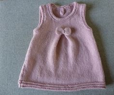 Free Knitting Pattern Baby Dress … - Everything About Knitting Baby Knitting Patterns, Baby Patterns, Free Knitting, Layette Pattern, Crochet Cardigan Pattern, Tricot Baby, Knit Baby Dress, Baby Pullover, Big Knits