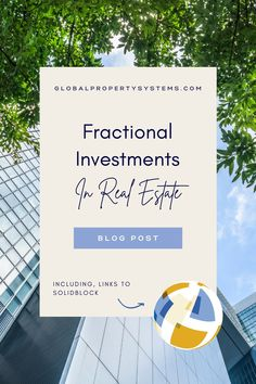 Fractional investment in real estate is a relatively new concept that opens new doors for investors who can't gain entry into this sector otherwise. It's a new pathway toward financial growth, making investing in properties far more accessible. If you're curious about fractional investment in real estate – including what it is, how it works, and how to get started – here's what you need to know. #GlobapPropertySystems #realestateblog #fractionalinvestments #propertyinvestments Real Estate License, Us Real Estate, Real Estate Tips, New Home Buyer, First Time Home Buyers, Florida Beach House Rentals, Beach House Plans, Mortgage Companies, Home Buying Tips