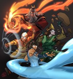 Avatar – Kioshi – Roku – Aang – Korra – Graffiti World Avatar Aang, Avatar Airbender, Avatar Legend Of Aang, Team Avatar, Legend Of Korra, Avatar Cartoon, Avatar Poster, Avatar Picture, Graffiti Cartoons
