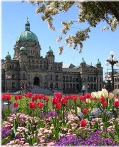 Visit the historic Parliament buildings in Victoria, BC