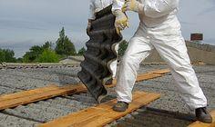 Asbestos Garage roof removal in Edinburgh. UK.