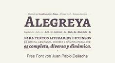 Free Font Alegreya