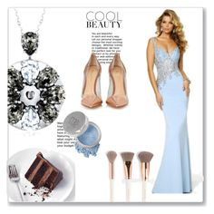 """""""Pinsel Zug aus Chiffon Ballkleid"""" by johnnymuller on Polyvore featuring Gianvito Rossi and Mineral Essence"""