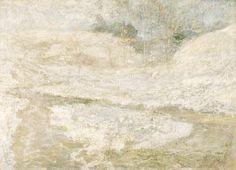 """The Brook, Greenwich, Connecticut,"" John Henry Twachtman, ca, 1890-1900, oil on canvas, 25 1/8 x 34 7/8"", Smithsonian American Art Museum."