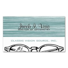 313 best optometrist business cards images on pinterest business spectacles eyewear optometry vision modern business card colourmoves