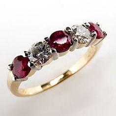 Ruby/diamond band