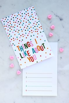 Fill in the Blank Valentine's Day Card - Things I Like About You