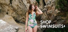 The best one piece swimsuits and tankinis. Ethically made in the USA Fun One Piece Swimsuit, Cute One Piece Swimsuits, Modest Swimsuits, Vintage Swimsuits, Jessica Rey, Swim Dress, Audrey Hepburn, Tankini