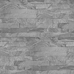 Superfresco Easy Grey Slate Brick design Wallpaper | Debenhams
