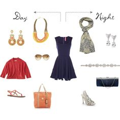 """""""One Dress - Day & Night"""" by angelarcher5 on Polyvore"""