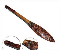 Large Maori wooden paddle