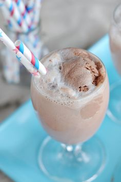Summertime Memories {Recipe: Old Fashioned Chocolate Egg Cream Float}. Ice cold whole chocolate milk, chocolate ice cream, ice cold club soda