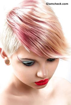 Pixie Hair with Pastel Highlights