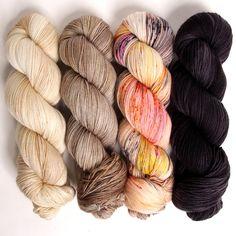 Hedgehog Fibres is an Irish artisan fibre and yarn dyeing studio located in Cork, Ireland. Knitted Flower Pattern, Knitted Flowers, Crochet Yarn, Knitting Yarn, Knitting Patterns, Colour Set, Hedgehog Fibres, Weaving Yarn, Yarn Thread