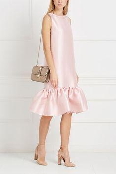 a8fc9eab547 Платье с воланами T-Skirt - Однотонное романтичное платье светло-розового  цвета из коллекции
