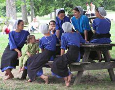 Socializing among the young women.