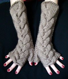 Fingerless Gloves Texting Gloves Taupe Earth Brown by LaimaShop, $40.00