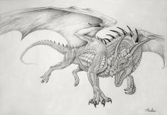 DeviantArt: More Like Dragon Viserion Vulom by IrenBee Fairy Drawings, Fantasy Drawings, Dragon Drawings, Dragon Poses, Sketch Poses, Sketch Ideas, Chromatic Dragon, Types Of Dragons, Small Dragon Tattoos