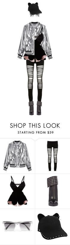 """""""eva 0112"""" by evava-c on Polyvore featuring Sans Souci, Maurie & Eve, Yves Saint Laurent, Prism and Karl Lagerfeld"""