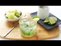 With only three easy ingredients, you could be sipping on one of theses deliciously fun caipirinhas in 5 minutes or less. Brazilian Drink, Brazilian Cocktail, Lime Wedge, Beverages, Drinks, Cocktail Making, Serving Size, Sangria, Kitchens