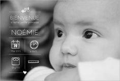 Faire part de naissance avec photo à personnaliser. A partir de 0.62€ sur http://www.popcarte.com/cartes-flash/carte-naissance/faire-part-naissance-photo-fille-2.html