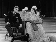 Judy Garland knitting, with Mickey Rooney