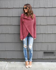 Made With Love Sweater - Dark Pink