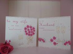 wife or husband anniversary card by laura sherratt designs | notonthehighstreet.com