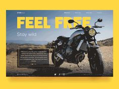 StarDust Biker Website by Tania Bashkatova #Design Popular #Dribbble #shots