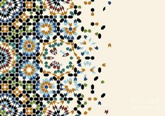 Islamic Art Pattern, Arabic Pattern, Pattern Art, Pattern Design, Baroque Pattern, Page Design, Design Art, Motifs Islamiques, Motif Arabesque