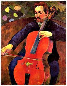 Paul Gauguin, ''The Cellist'' The Cellist (Portrait of Upaupa Scheklud) ~By Paul Gauguin, 1894. ~Repinned Via Ingrid Sherwood