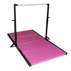 Cheap Gymnastics Bars for Home | ... gymnastics mini high bar with pink 2 inch folding mat discount click