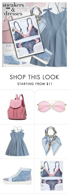 """""""Sporty Chic: Sneakers and Dresses"""" by vanjazivadinovic ❤ liked on Polyvore featuring Celestine, Hermès, Rene, polyvoreeditorial, zaful and SNEAKERSANDDRESSES"""