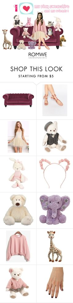 """""""Pink Sweatshirt"""" by myfashionvault ❤ liked on Polyvore featuring Glamorous, Mamas & Papas, Forever 21, Hanna Andersson and Anne Sisteron"""