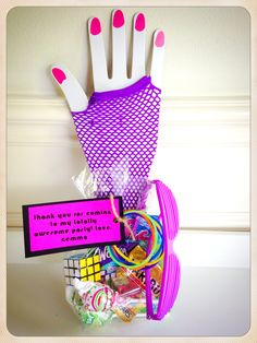 I N S T A G R A M @ HADLEYANDELIZABETH 80s themed party favor for an 11 yr old bdayMADE BY: Www.hadleyandelizabeth.com