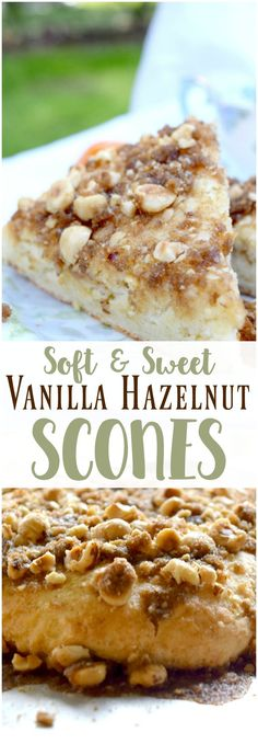 Looking for a scone recipe? These vanilla hazelnut scones are soft, sweet, and pair perfectly with a hot cup of coffee! Because they don't have heavy cream, they are also lighter than traditional scones.